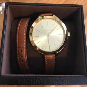 Michael Kors wrap around luggage color watch